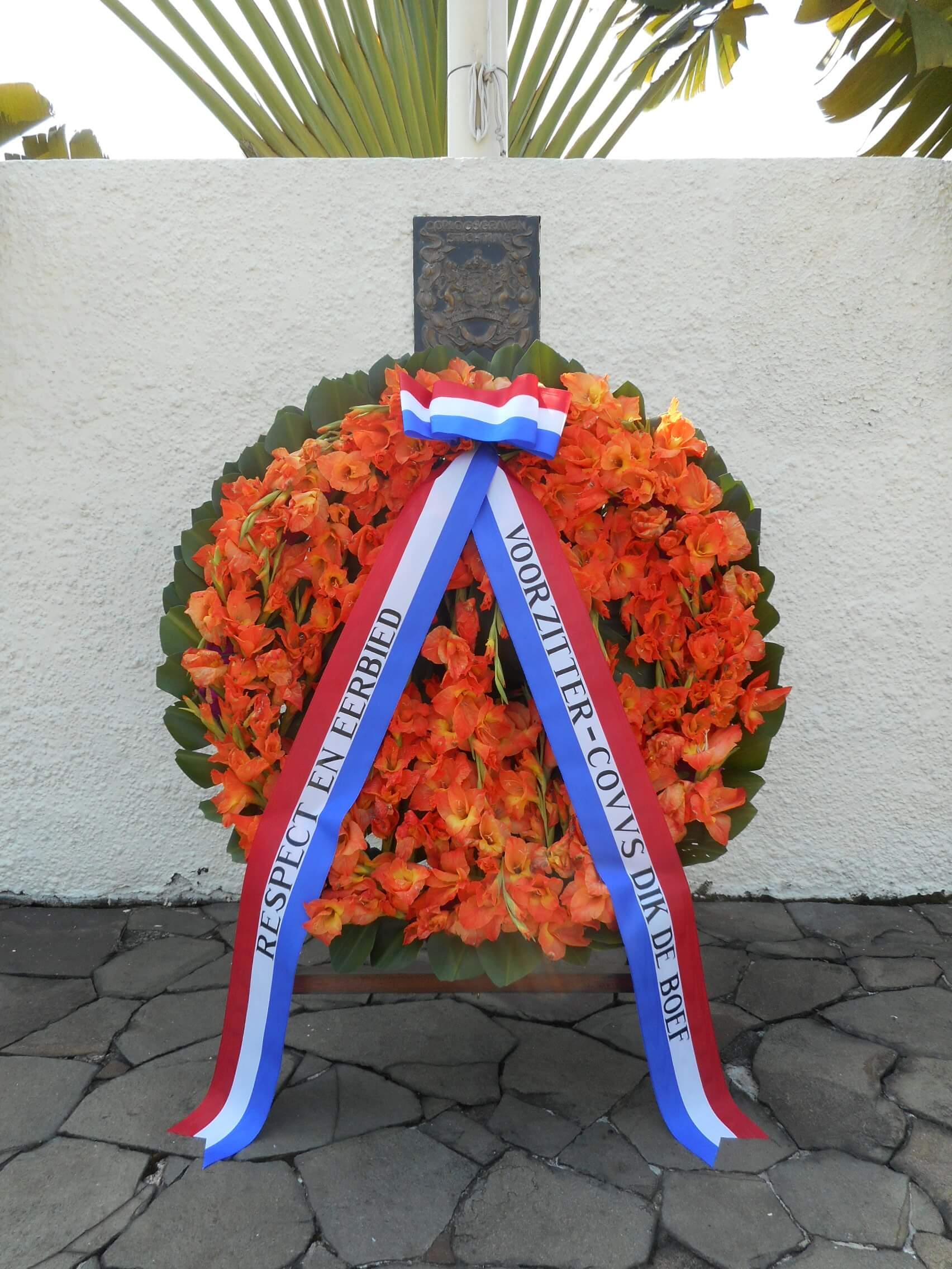 20160723 De Boef Krans Vlaggenmonument